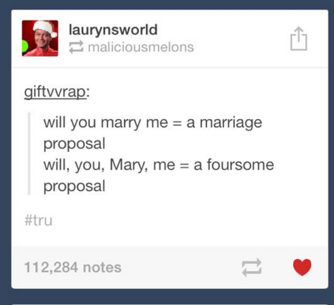 Marriage proposal foursome proposal